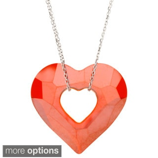La Preciosa Sterling Silver Open Heart Necklace