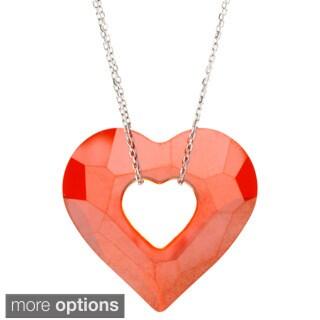 La Preciosa Sterling Silver Open Heart Necklace