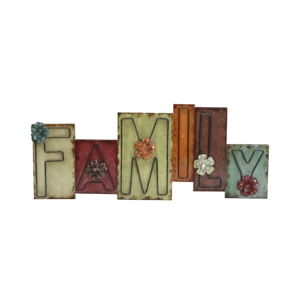 Shop Elements Family Staggered Metal Wall Decor Free