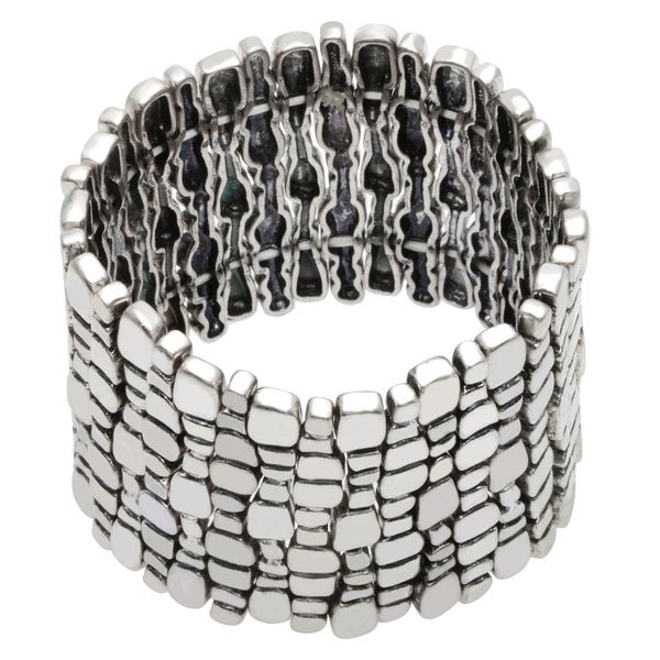 Kenneth Jay Lane 6418BS Antiqued Stretch Bracelet