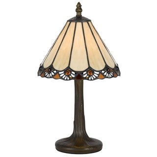 Cal Lighting Tiffany Slope 1-light Antique Brass Accent Lamp