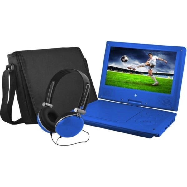 "Ematic EPD909 Portable DVD Player - 9"" Display - 640 x 234 - Blue"