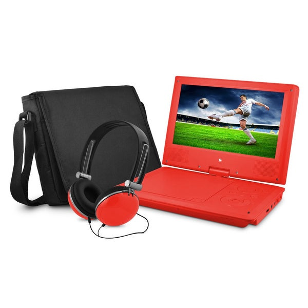 EPD909 9-inch Portable DVD Player with Matching Headphones and Bag. Opens flyout.