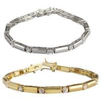 Nexte Jewelry Silvertone or Goldtone Interlude Tennis Bracelet