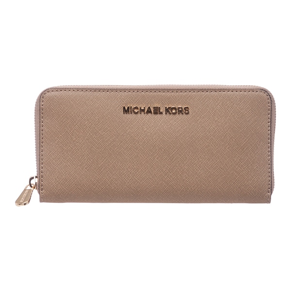 0349422f6378 MICHAEL Michael Kors 'Jet Set' Dark Khaki Saffiano Leather