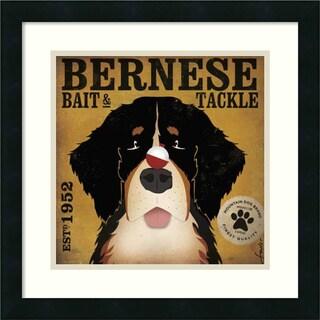 Stephen Fowler 'Bernese Bait & Tackle' Framed Art Print (18 x 18-inch)