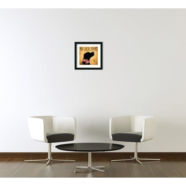 ART PRINT Black Dog Mistletoe Co Stephen Fowler