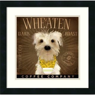 Stephen Fowler 'Wheaten Dark Roast' Framed Art Print (18 x 18-inch)