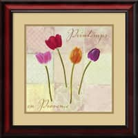 Framed Art Print 'Printemps en Provence (Spring in Provence)' by Remy Dellal 19 x 19-inch