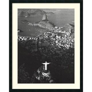 Marilyn Bridges 'Cristo Redentor, Morro Do Corcovado, Rio De Janeiro'31x38-inch Framed Art Print