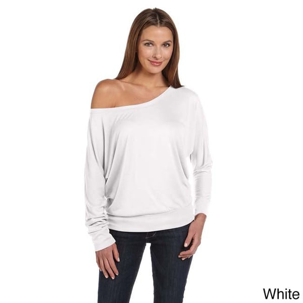 Bella Women's Off-shoulder Long Sleeve T-shirt. Opens flyout.