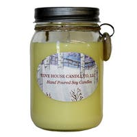 Scented Yellow 16 oz. Canning Jar Soy Candle