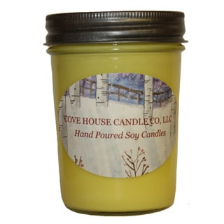 Tropical Scented Yellow 8-ounce Jelly Jar Soy Candle