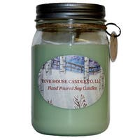Scented Light Green 16-ounce Canning Jar Soy Candle
