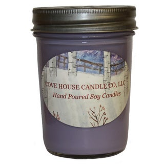 Scented Purple 8-ounce Jelly Jar Soy Candle