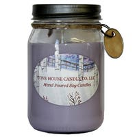 Scented Purple 16-ounce Canning Jar Soy Candle