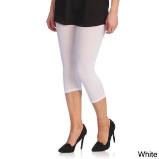 Capri Leggings Ladies Stretch Solid Colors