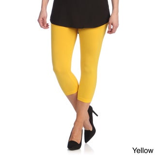Capri Leggings Ladies Stretch Solid Colors