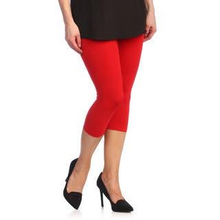 Capri Leggings Ladies Stretch Solid Colors|https://ak1.ostkcdn.com/images/products/8793748/P16031003.jpg?impolicy=medium