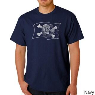Los Angeles Pop Art Men's 'Pirate Flag' T-shirt