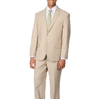 Caravelli Italy Men's 'Superior 150' Beige 2-button Suit