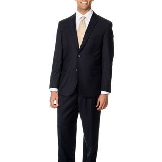 Caravelli Italy Men's 'Superior 150' Navy Blue 2-button Suit