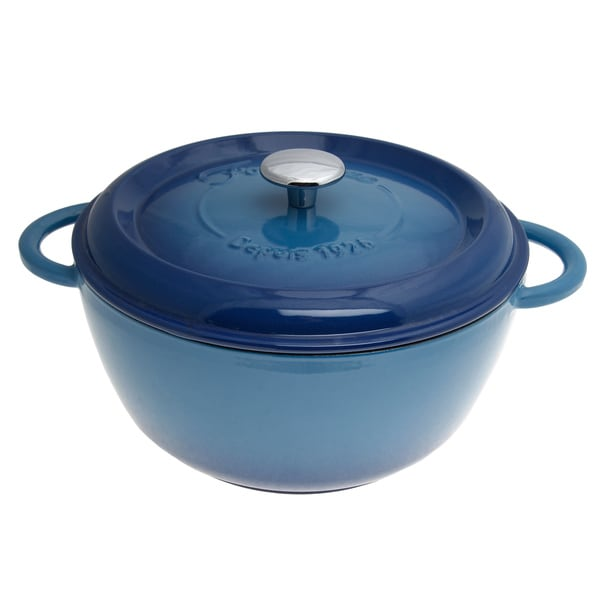 Fleur by Fontignac Blue 5.25-quart Round Cocotte - Free Shipping Today ...