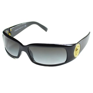 Versace Women's 'VE' Black Plastic Fashion Sunglasses