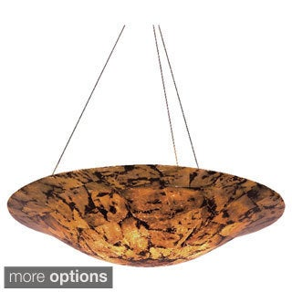 Varaluz Big 5-light Reclaimed Shell Pendant