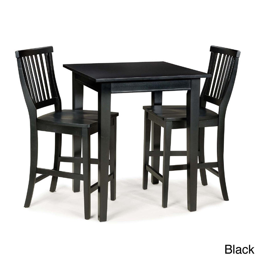 Arts and Crafts 3-piece Bistro Set by Home Styles (Black)