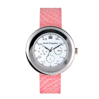 Hush Puppies Women's Day Date 24 Hour Leather Watch