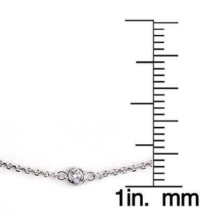 Neda Behnam 14k Gold 1/8ct Bezel Station Bracelet (G-H, SI1-SI2)