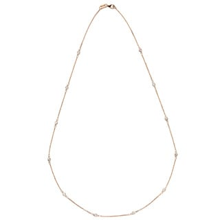 Diamonds For A Cure 14k Rose Gold 1/3ct TDW Diamond Station Necklace (G-H, SI1-SI2)