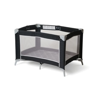Foundations Sleep 'N Store Playard in Graphite Mod Plaid