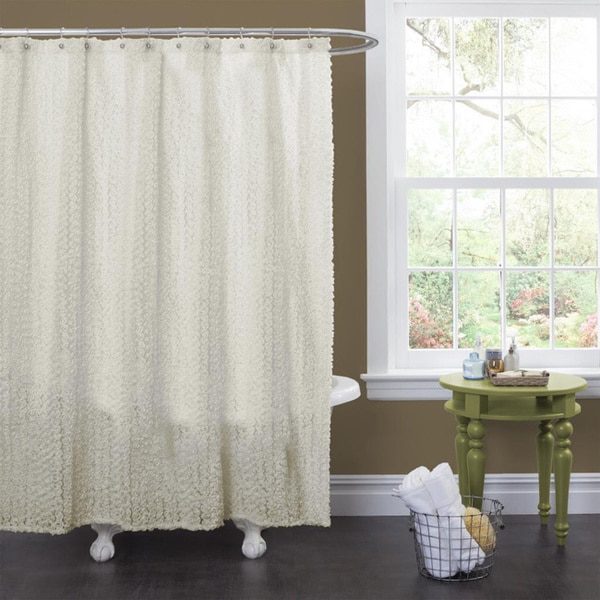 Lush Decor Roselyn Ivory Shower Curtain