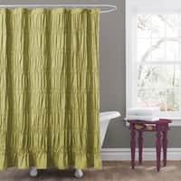 Lush Decor Emily Green Shower Curtain