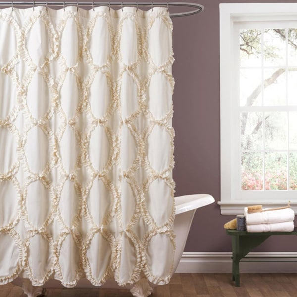 Shop Lush Decor Riviera Ivory Shower Curtain Free
