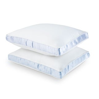 Sealy Cotton Sateen 300 Thread Count Firm Density Pillows (Set of 2)