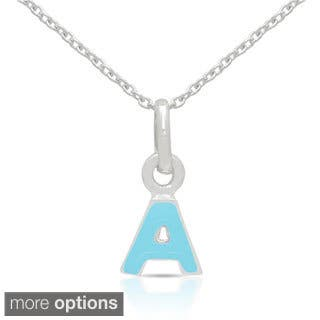 Molly and Emma Sterling Silver Blue Enamel A to Z Option Initial Necklaces|https://ak1.ostkcdn.com/images/products/8796366/Molly-and-Emma-Sterling-Silver-Blue-Enamel-Initial-Necklaces-P16033073.jpg?impolicy=medium