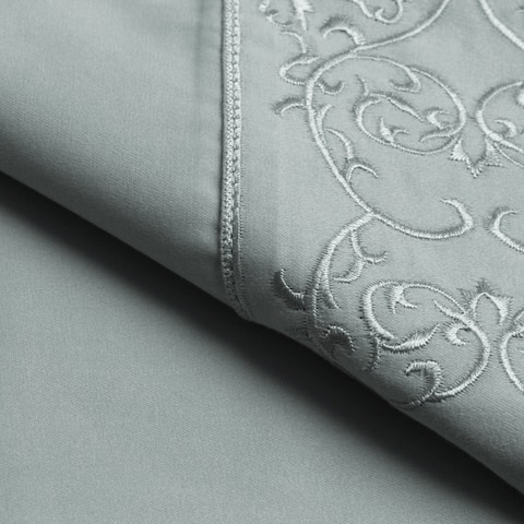 Andre Embroidered T400 High Quality Cotton Sateen Sheet Set