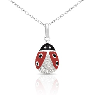 Molly and Emma Sterling Silver Enamel Ladybug Necklace