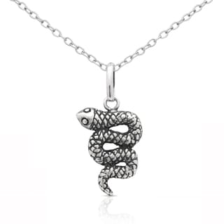 Molly and Emma Sterling Silver Snake Necklace
