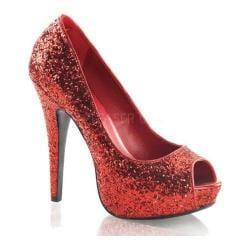 Women's Funtasma Twinkle 18G Red Glitter