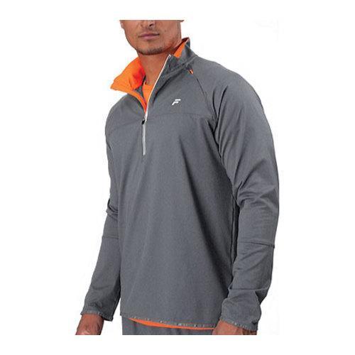 Men's Fila Platinum 1/2 Zip Top Grey Heather/Shocking Orange