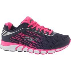 Women's Fila Turbo Fuel 2 Linear Energized Fila Navy/Knockout Pink/Metallic Silver