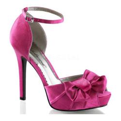 Women's Fabulicious Lumina 36 Ankle Strap Hot Pink Satin
