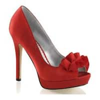 Women's Fabulicious Lumina 42 Pump Red Satin