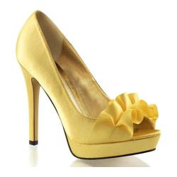 Women's Fabulicious Lumina 42 Pump Yellow Satin