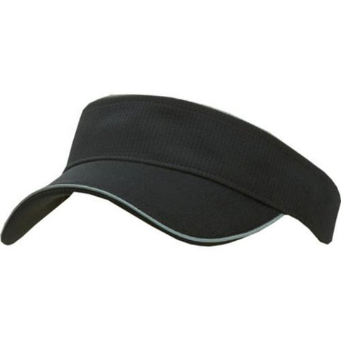 Men's San Diego Hat Company Performance Fabric Visor CTH3537 Black