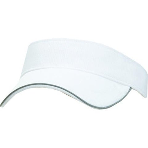Men's San Diego Hat Company Performance Fabric Visor CTH3537 White